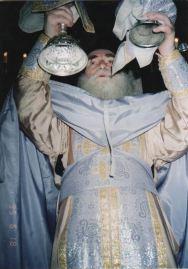 Pr. Arsenie Papacioc slujind